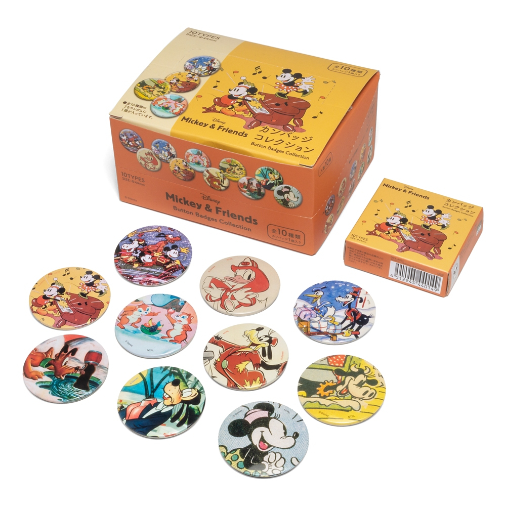 ディズニーカンバッジコレクション ミッキー&フレンズ コンプリートセット 全10種