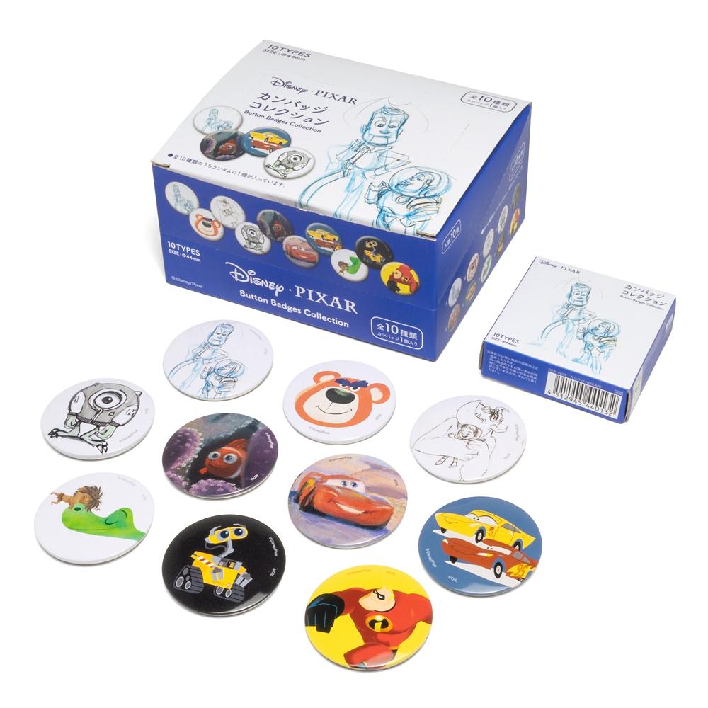 ディズニーカンバッジコレクション ピクサー コンプリートセット 全10種