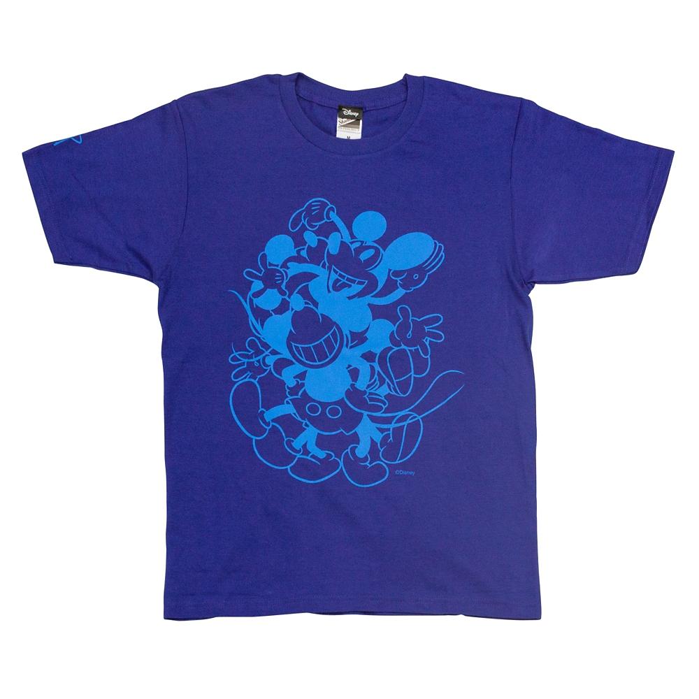 T シャツ ミッキーマウス ブルーL