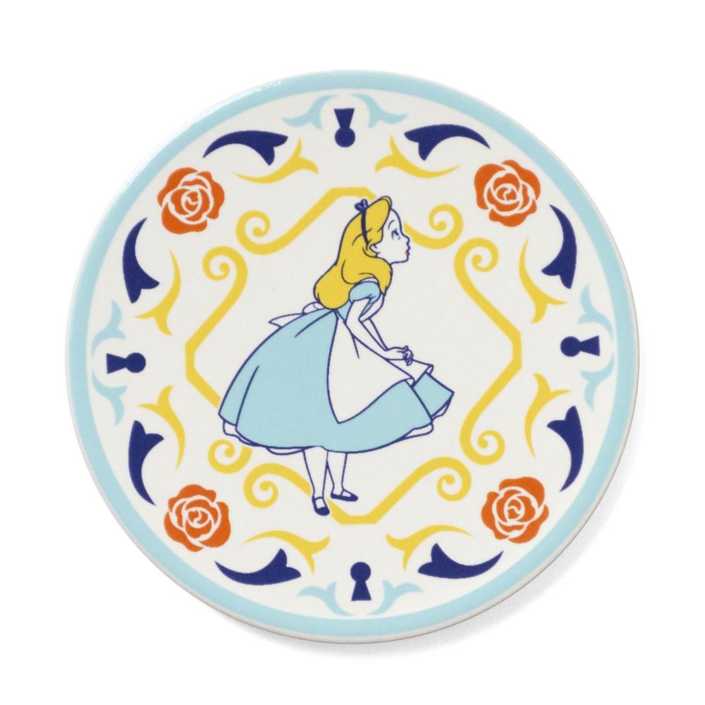 shopDisney先行販売・陶器シリーズ セラミックスコースター 不思議の国のアリス