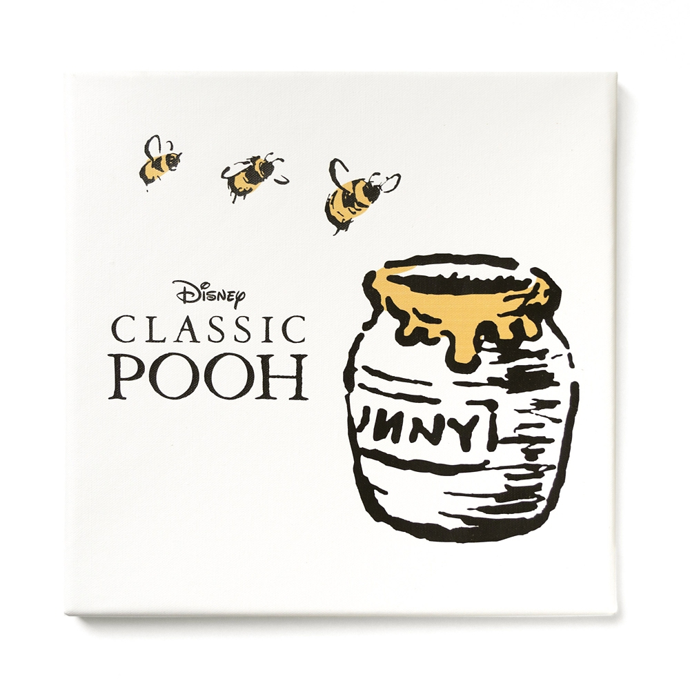 shopDisney先行販売・ハチミツの日シリーズ くまのプーさんのファブリックパネル「ミツバチとハチミツ」