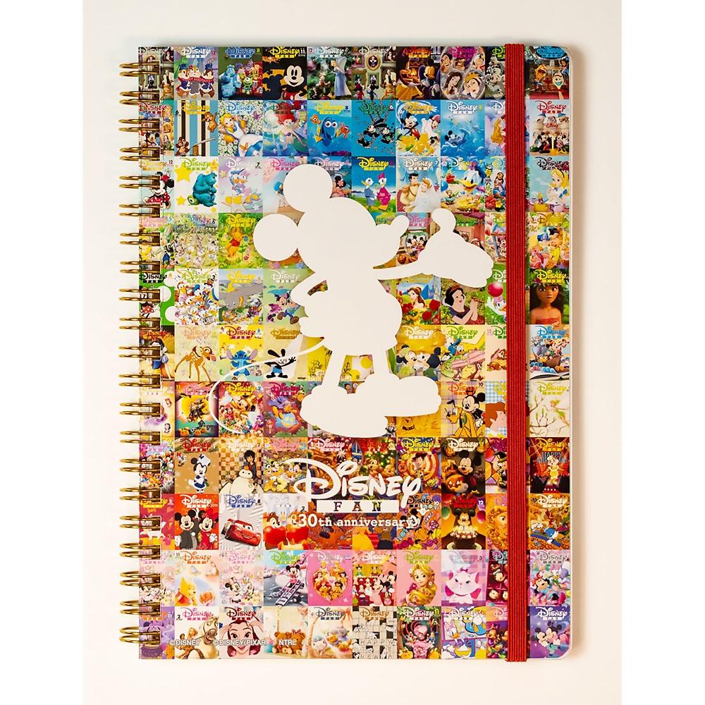 ミッキー B6 リングノート A Disney FAN 30th anniversary