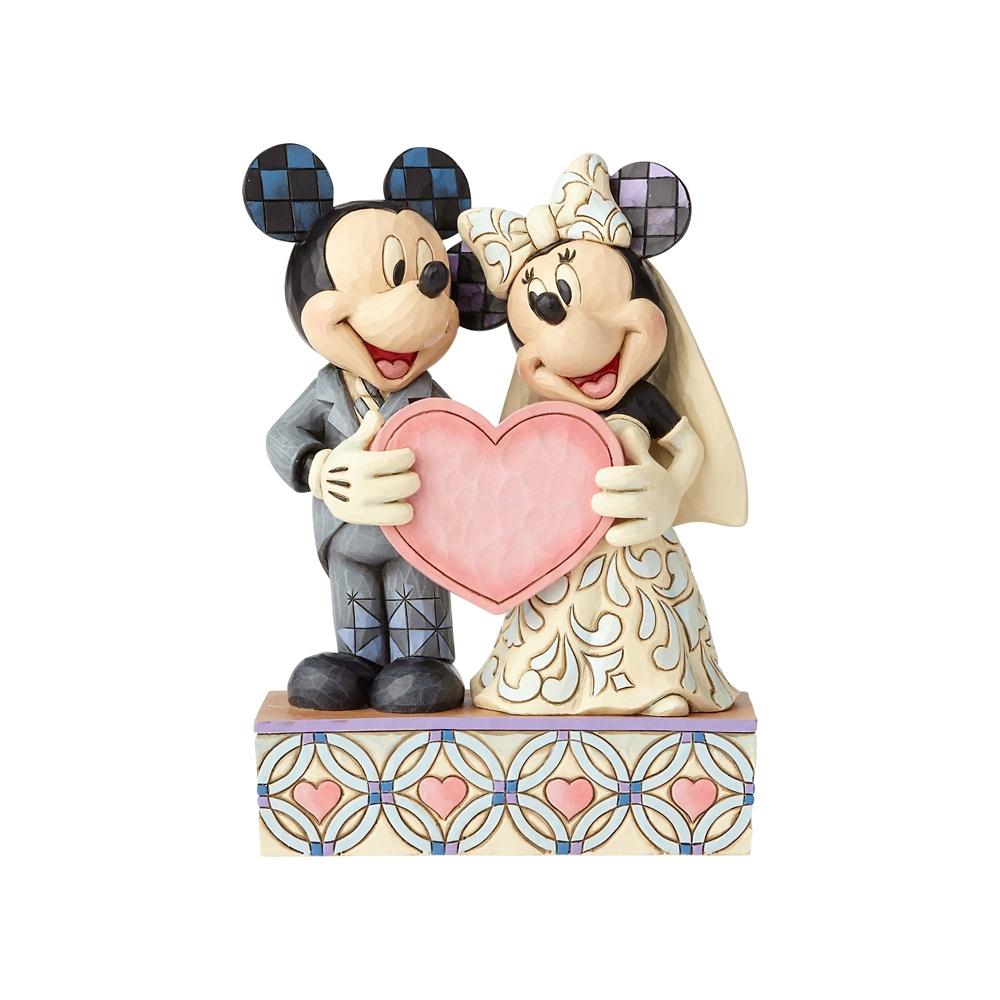 【enesco】ミッキー&ミニー フィギュア ピンクハート ウェディング DISNEY TRADITIONS