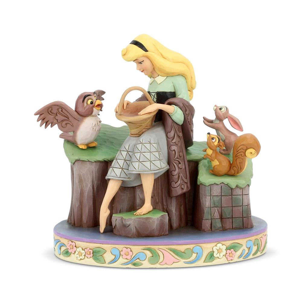 【enesco】オーロラ姫 フィギュア 森の動物たち DISNEY TRADITIONS