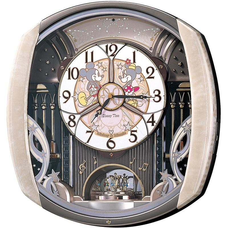 【送料無料】【セイコークロック】ミッキー&ミニー 掛時計 からくり時計