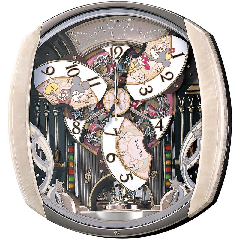 【セイコークロック】ミッキー&ミニー 掛時計 からくり時計