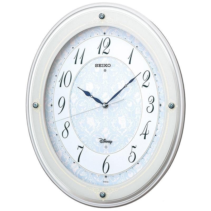 【セイコークロック】ディズニープリンセス 掛時計 大人ディズニー アミューズ時計