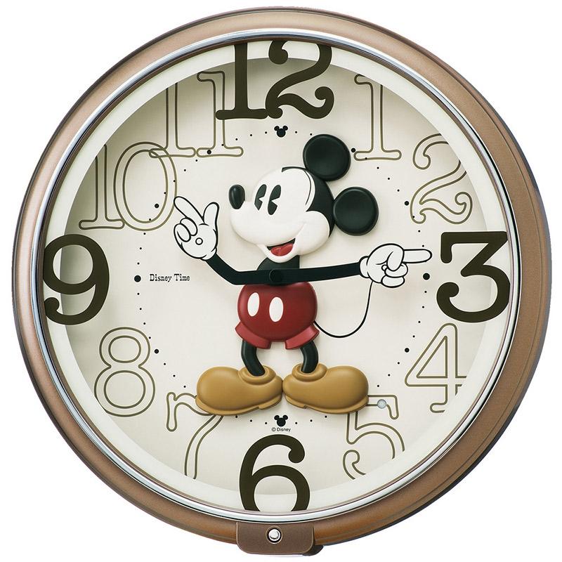 【送料無料】【セイコークロック】ミッキー 掛時計 アミューズ時計