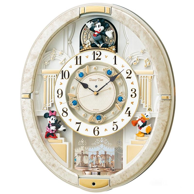 【セイコークロック】ミッキー&ミニー&ドナルド 掛時計 からくり時計