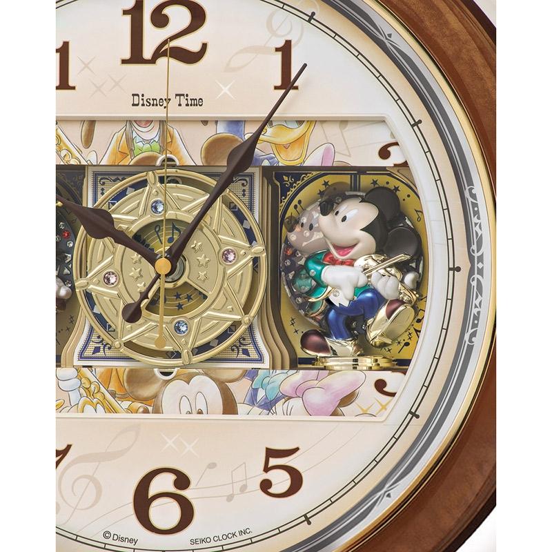 【セイコークロック】ミッキー&フレンズ 掛時計 からくり時計