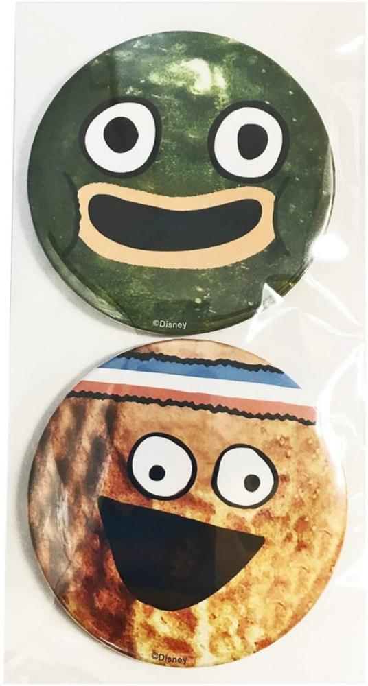 ディズニー ピクルスとピーナッツ 缶バッジ 2Pフェイス1