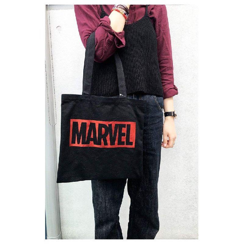 MARVEL マーベル カラートートバッグ ボックスロゴ BK