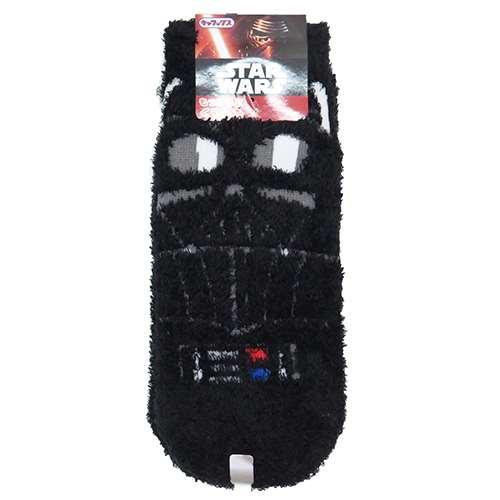 スター・ウォーズ もこもこ靴下 ダイス・ベイダー アップ ブラック 22cm~24cm