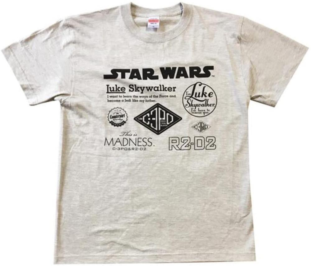 スター・ウォーズ Tシャツ STAR WARS ロゴ オートミール M
