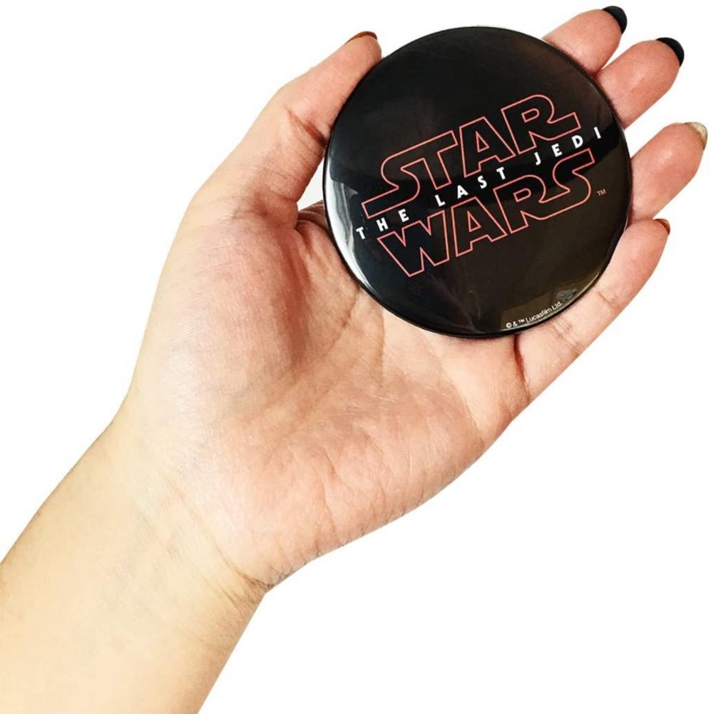 スター・ウォーズ 缶バッチ φ7.5cm エピソード8 ロゴ