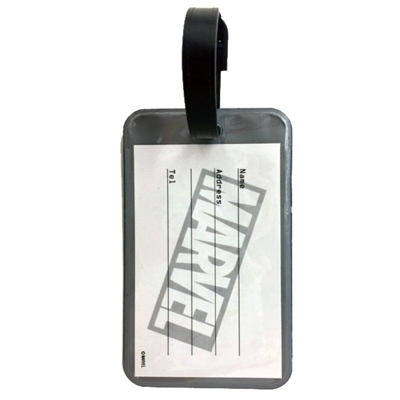 【HAPI+TAS】マーベル ラゲージタグ レッド ロゴ