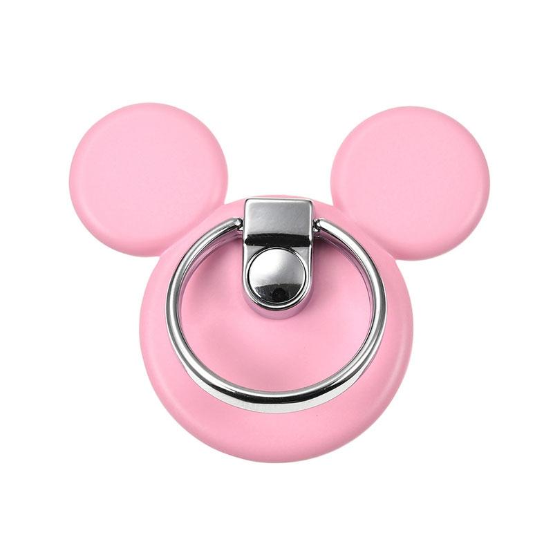 ミッキー バンカーリング アイコン ピンク