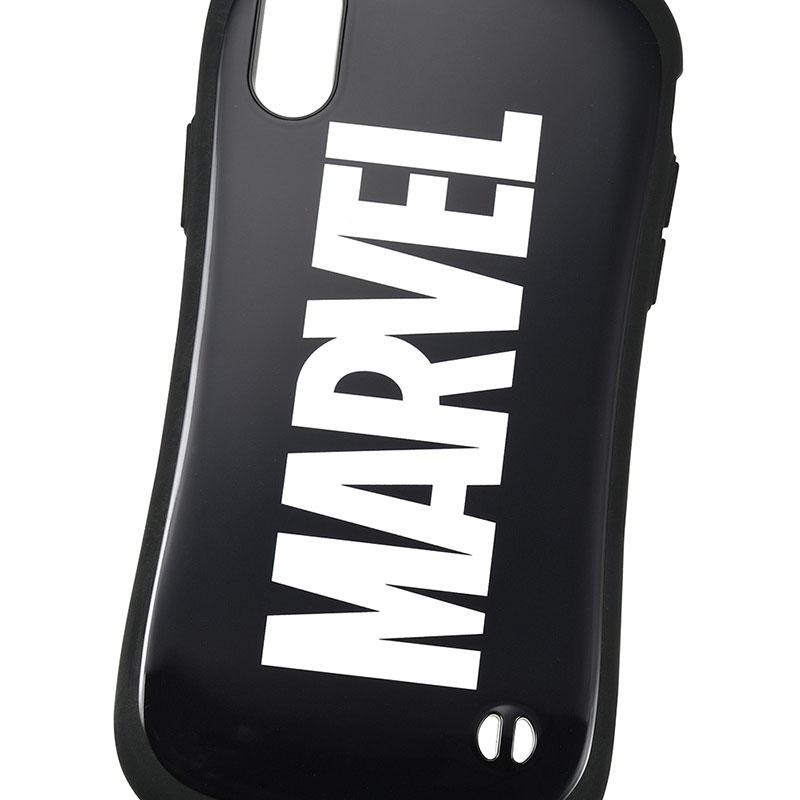 【iFace】マーベル iPhone X/XS用スマホケース・カバー ブラック ロゴ iFace First Classケース