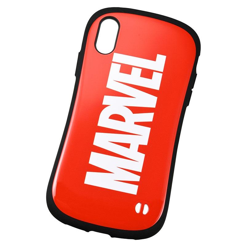【送料無料】【iFace】マーベル iPhone XR用スマホケース・カバー レッド ロゴ iFace First Classケース