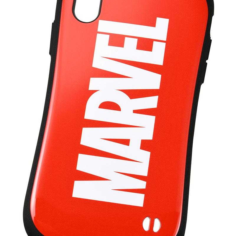 【iFace】マーベル iPhone XR用スマホケース・カバー レッド ロゴ iFace First Classケース