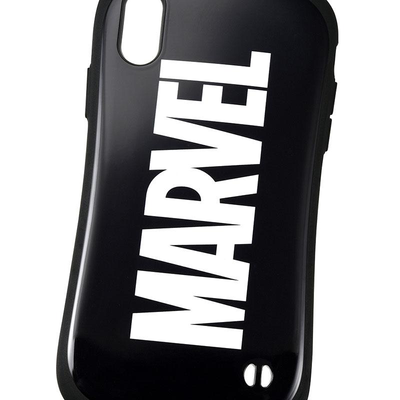 【iFace】マーベル iPhone XR用スマホケース・カバー ブラック ロゴ iFace First Classケース