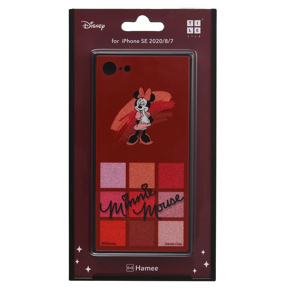 ミニー iPhone 7/8/SE(第2世代)用スマホケース・カバー グリッター コスメデザイン TILEケース