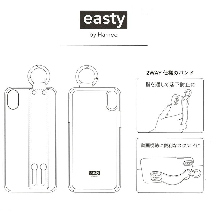 【easty】マーベル iPhone X/XS用スマホケース・カバー バンド付きハードケース コミック ロゴ