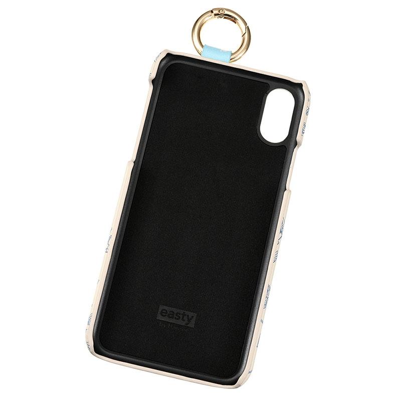 【easty】トイ・ストーリー iPhone X/XS用スマホケース・カバー 雲柄 バンド付きハードケース