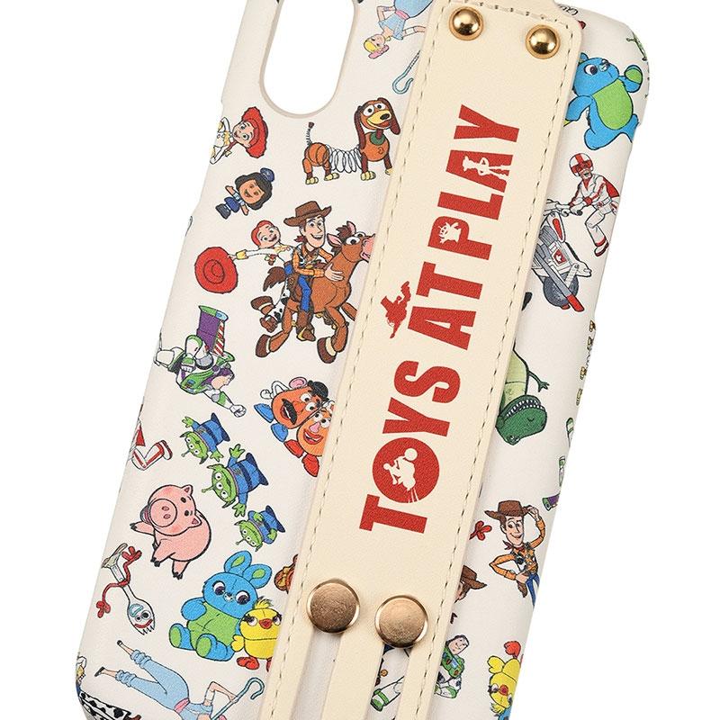 【easty】トイ・ストーリー4 iPhone X/XS用スマホケース・カバー バンド付きハードケース