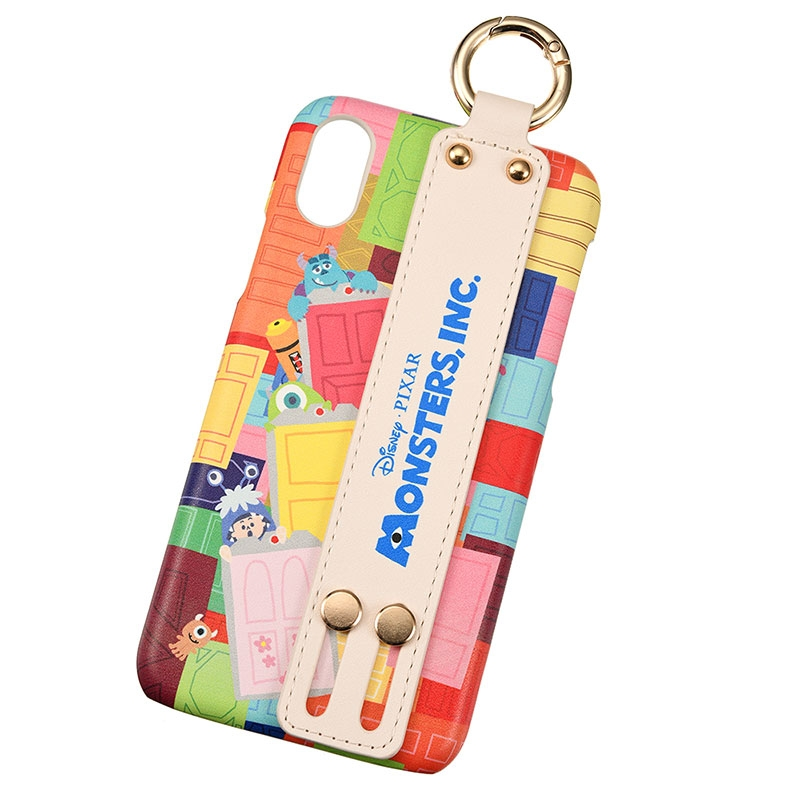 【easty】モンスターズ・インク iPhone X/XS用スマホケース・カバー DOOR バンド付きハードケース