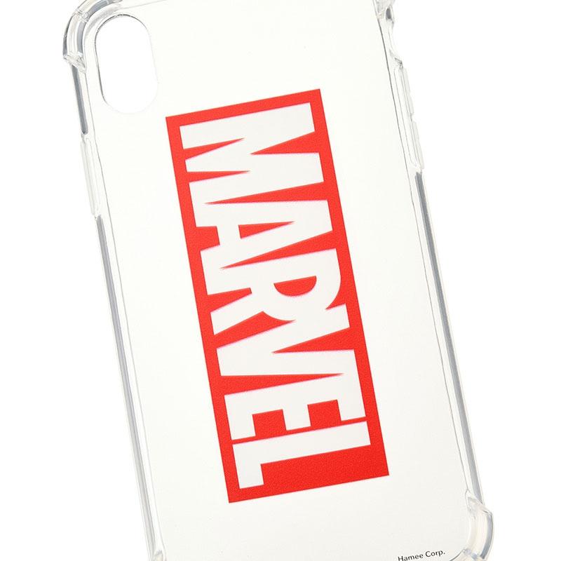 マーベル iPhone XR用スマホケース・カバー ロゴ ソフトケース