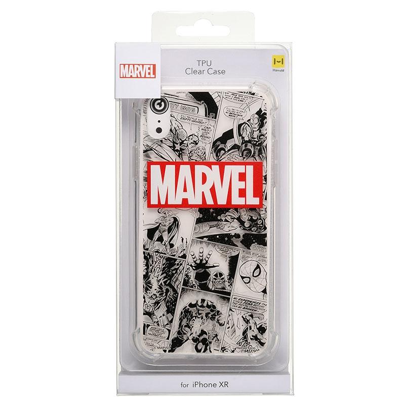 マーベル iPhone XR用スマホケース・カバー コミック ロゴ ソフトケース