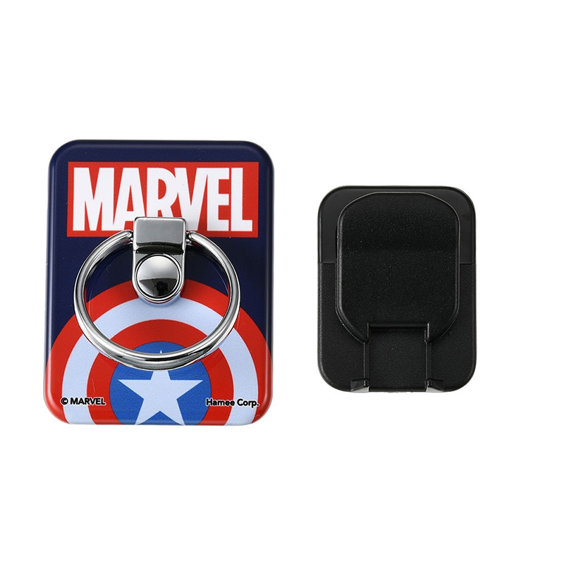 マーベル キャプテン・アメリカ バンカーリング ネイビー ロゴ