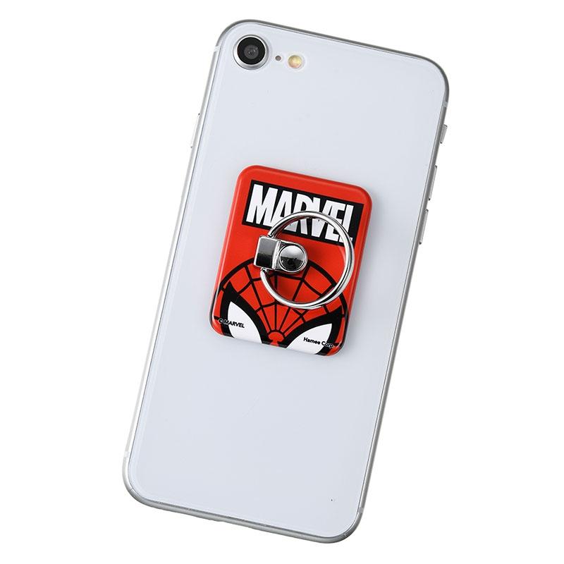 マーベル スパイダーマン バンカーリング レッド ロゴ