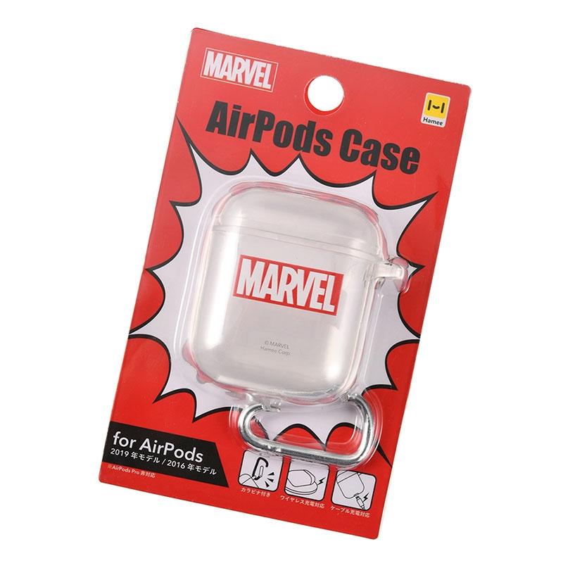マーベル AirPods用ケース クリア ロゴ
