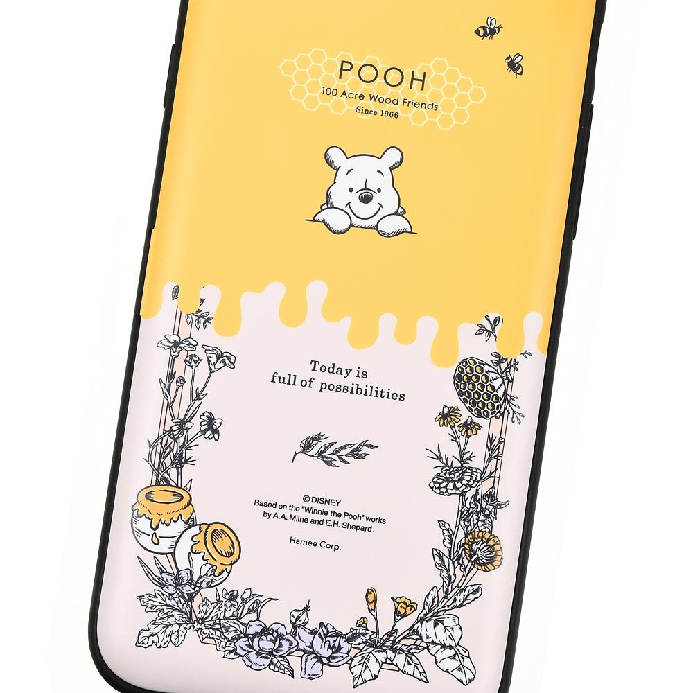 【Latootoo】プーさん iPhone 7/8用スマホケース・カバー カード収納型 ミラー付き ボタニカル