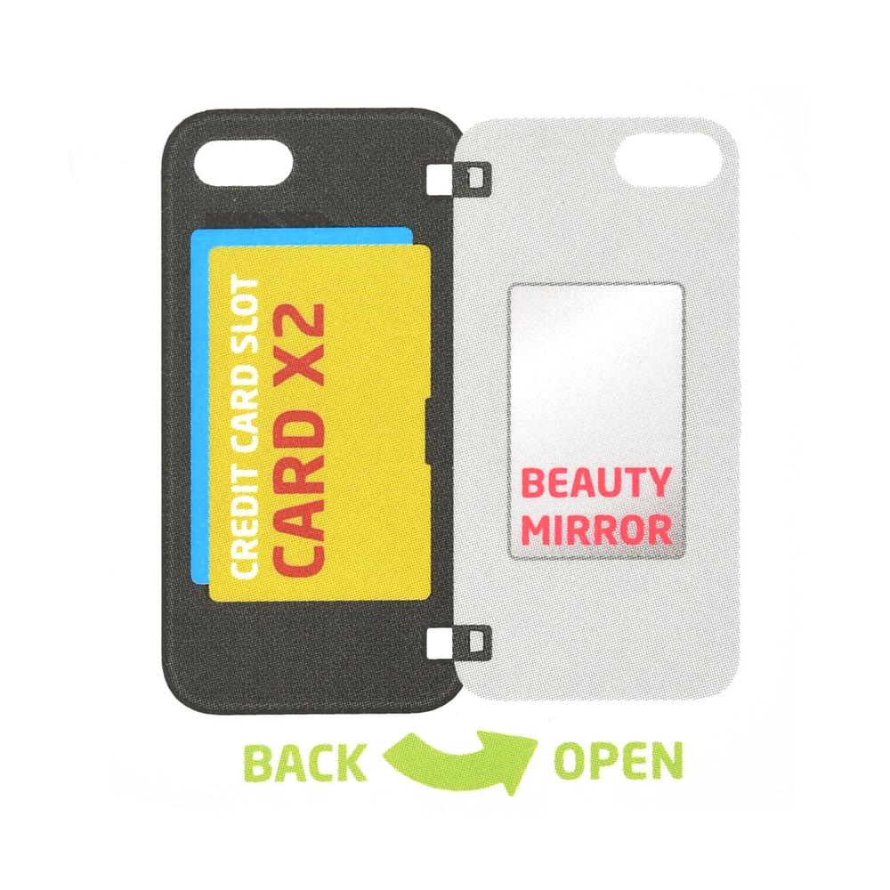 【Latootoo】プーさん iPhone 11/XR用スマホケース・カバー カード収納型 ミラー付き ボタニカル