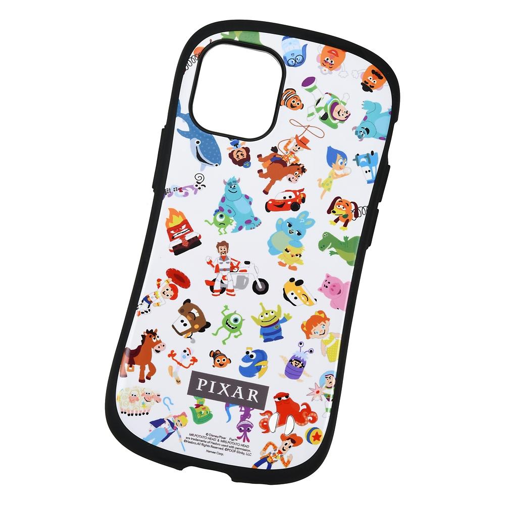 【iFace】ピクサーキャラクター iPhone 12 mini用スマホケース・カバー ホワイト 総柄 iFace First Classケース