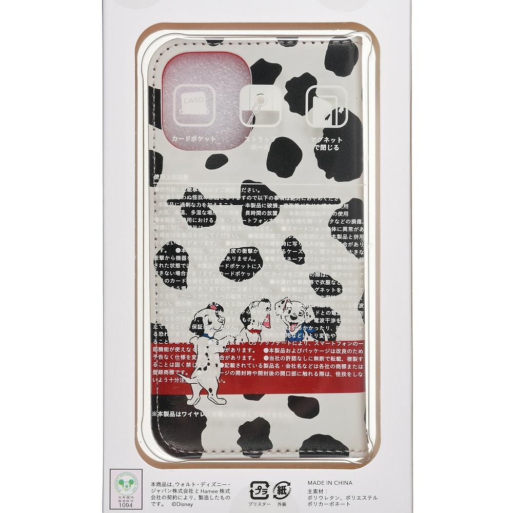 101匹わんちゃん iPhone 12 mini用スマホケース・カバー フリップ窓付きダイアリーケース