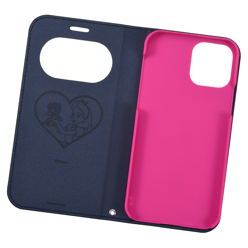 アリス iPhone 12/12 Pro用スマホケース・カバー フリップ窓付きダイアリーケース ガールズフラワー