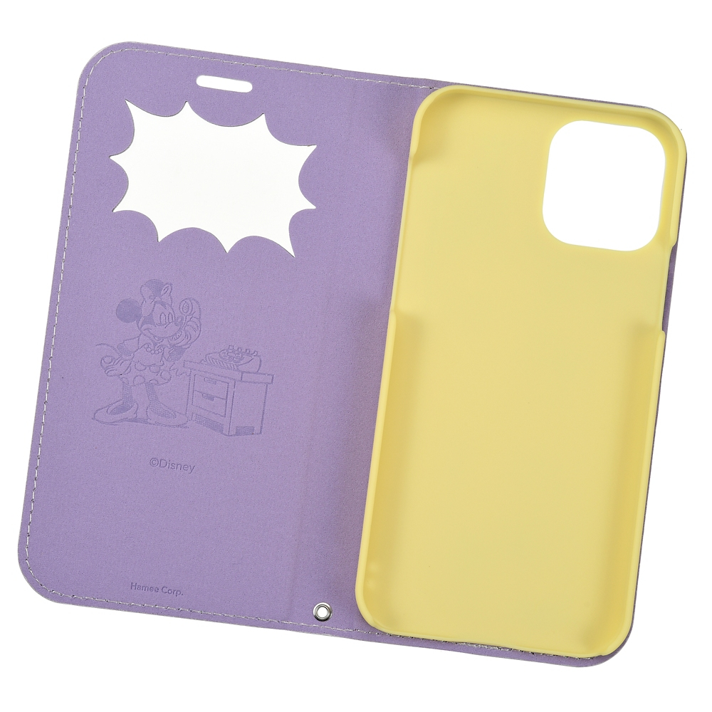 ミッキー&ミニー iPhone 12/12 Pro用スマホケース・カバー フリップ窓付きダイアリーケース 電話