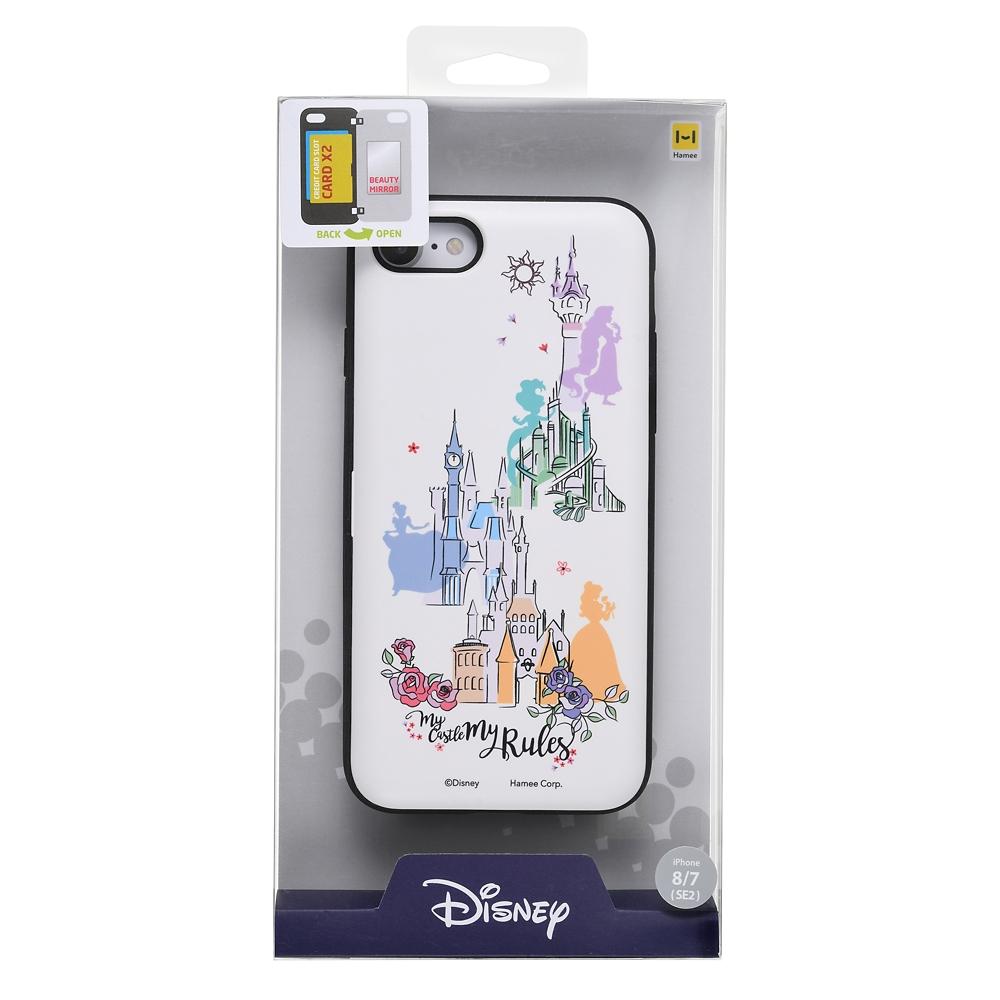 【Latootoo】ディズニープリンセス iPhone 7/8/SE(第2世代)用スマホケース・カバー カード収納型 ミラー付き