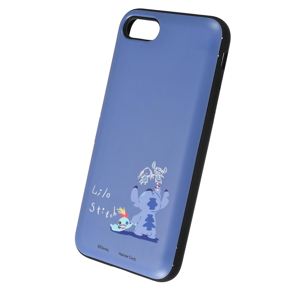 【Latootoo】スティッチ iPhone 7/8/SE(第2世代)用スマホケース・カバー カード収納型 ミラー付き