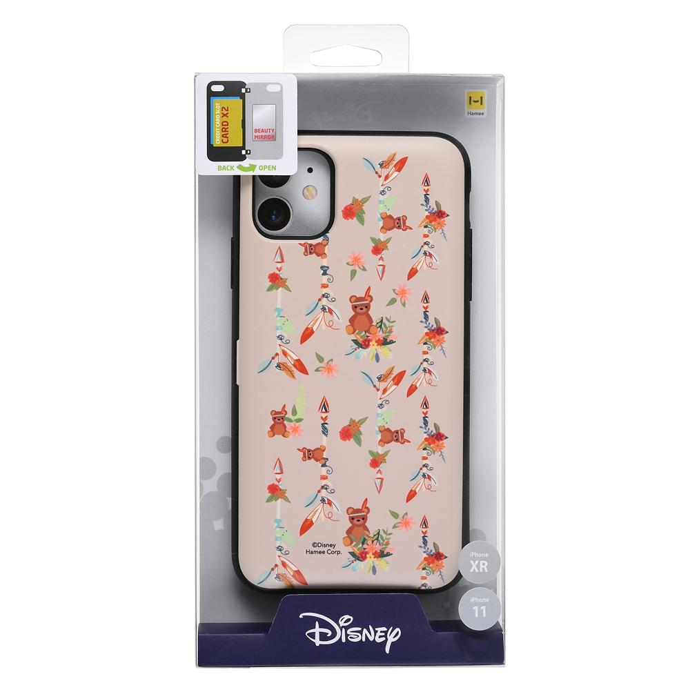 【Latootoo】マイケルのテディベア iPhone 11/XR用スマホケース・カバー カード収納型 ミラー付き インディアン