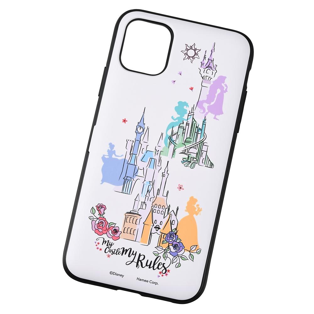 【Latootoo】ディズニープリンセス iPhone 11/XR用スマホケース・カバー カード収納型 ミラー付き