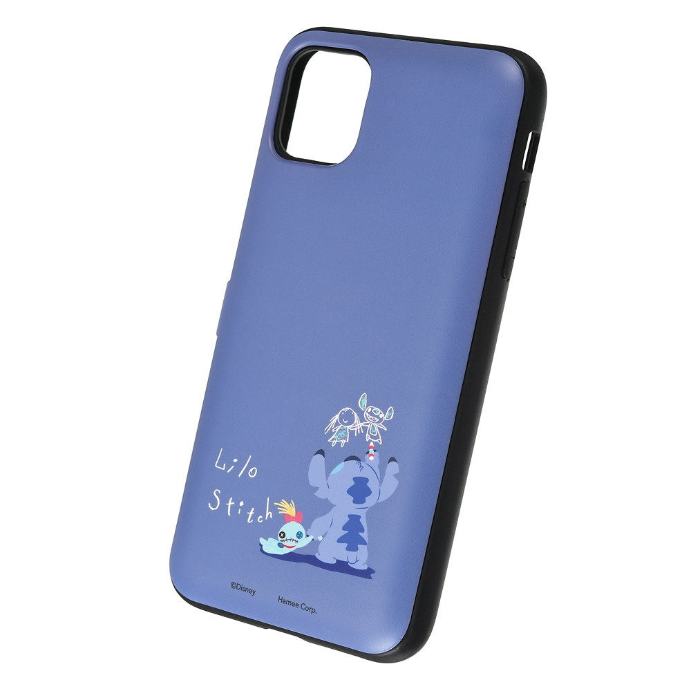 【Latootoo】スティッチ iPhone 11/XR用スマホケース・カバー カード収納型 ミラー付き