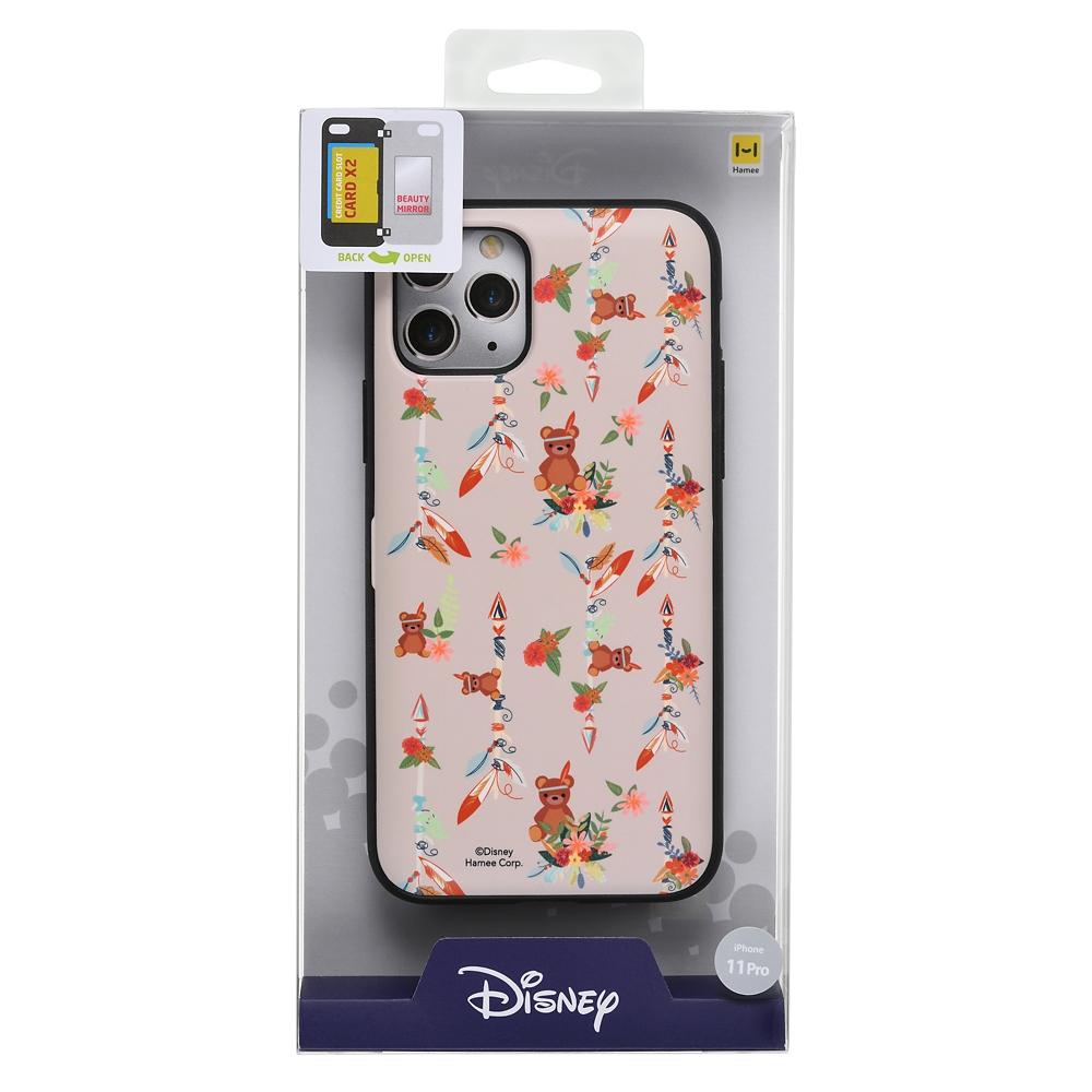 【Latootoo】マイケルのテディベア iPhone 11 Pro用スマホケース・カバー カード収納型 ミラー付き インディアン