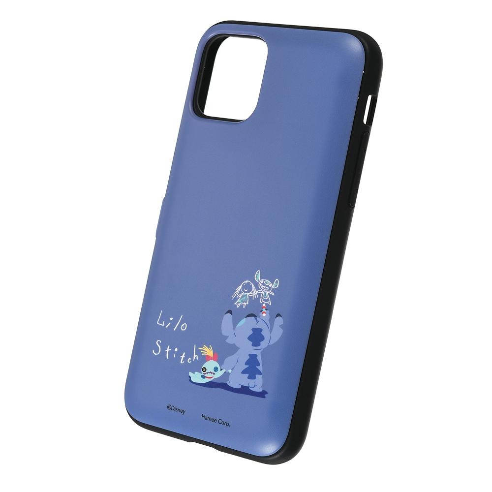 【Latootoo】スティッチ iPhone 11 Pro用スマホケース・カバー カード収納型 ミラー付き