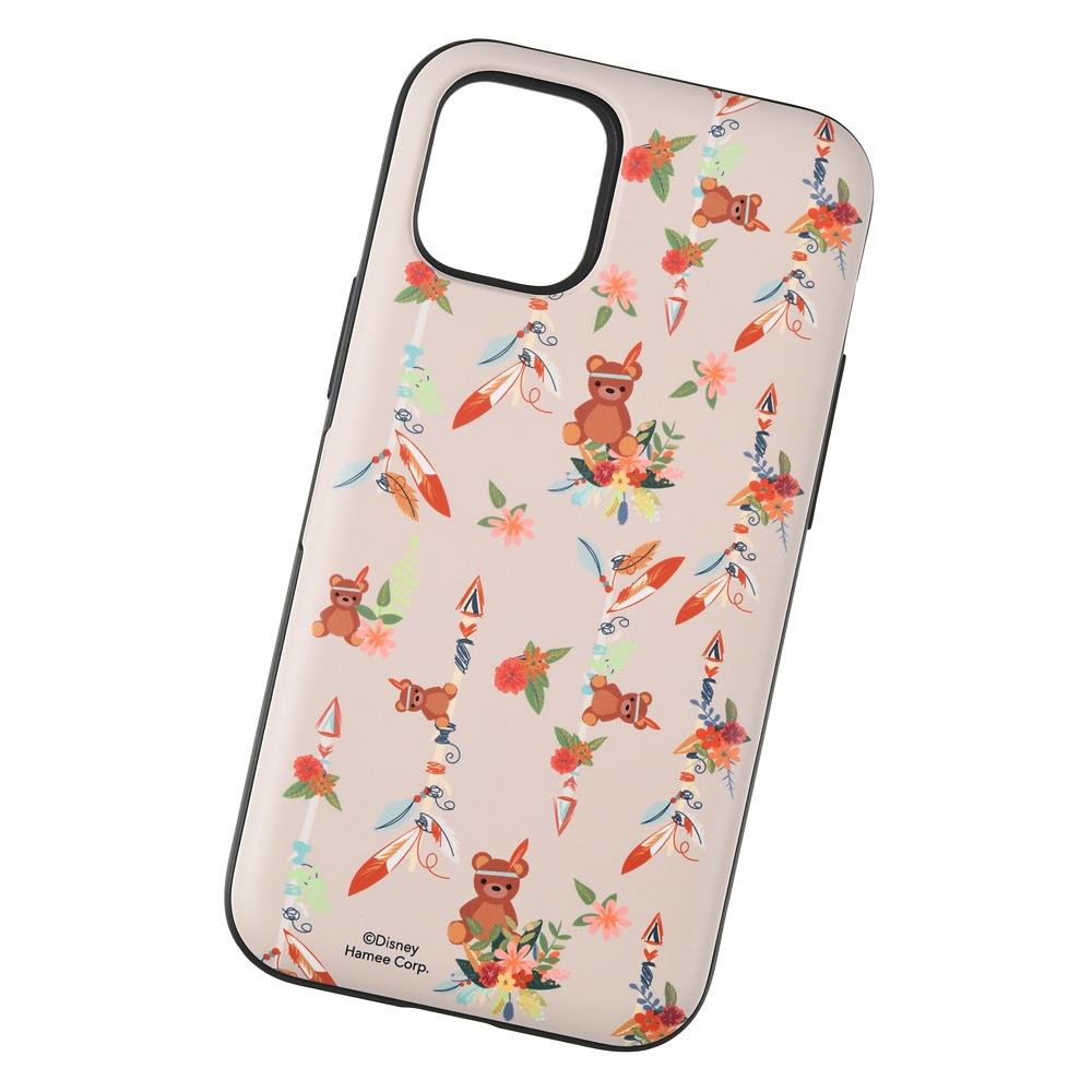 【Latootoo】マイケルのテディベア iPhone 12 mini用スマホケース・カバー カード収納型 ミラー付き インディアン