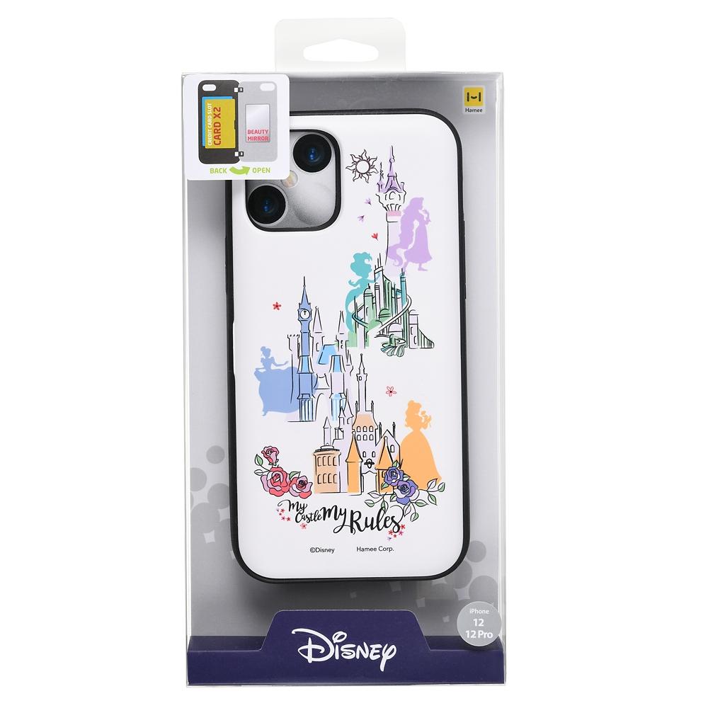 【Latootoo】ディズニープリンセス iPhone 12/12 Pro用スマホケース・カバー カード収納型 ミラー付き